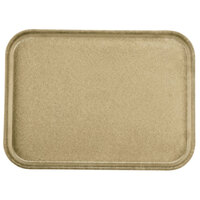 Carlisle 1612FG095 Customizable 12 inch x 16 inch Glasteel Almond Fiberglass Tray - 12 / Case