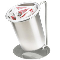 Cal-Mil 1226-39-SOLID Iron Silver Frame Single Ring Solid Cylinder Display