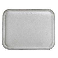 Carlisle 1814FG002 Customizable14 inch x 18 inch Glasteel Smoke Gray Fiberglass Tray - 12/Case
