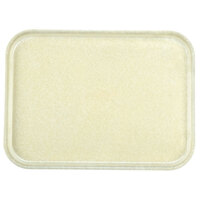Carlisle 1612FG003 Customizable 12 inch x 16 inch Glasteel Natural Fiberglass Tray - 12/Case