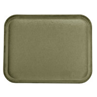 Carlisle 1814FG076 Customizable 14 inch x 18 inch Glasteel Toffee Tan Fiberglass Tray - 12/Case