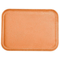 Carlisle 1612FG018 Customizable 12 inch x 16 inch Glasteel Orange Fiberglass Tray - 12 / Case