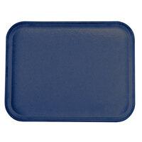 Carlisle 1814FG050 Customizable 14 inch x 18 inch Glasteel Sapphire Blue Fiberglass Tray - 12/Case