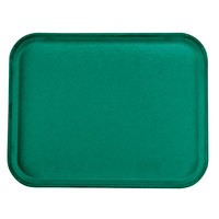 Carlisle 1814FG010 Customizable14 inch x 18 inch Glasteel Forest Green Fiberglass Tray - 12/Case