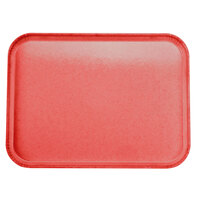 Carlisle 2015FG017 Customizable 15 inch x 20 inch Glasteel Red Fiberglass Tray - 12/Case