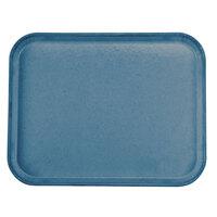 Carlisle 1814FG97003 Customizable 14 inch x 18 inch Glasteel Pacific Blue Fiberglass Tray - 12/Case
