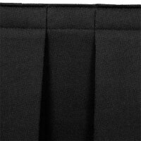 National Public Seating SB24-36 Black Box Stage Skirt for 24 inch Stage - 36 inch Long