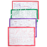 Hoffmaster 326191 10 inch x 14 inch Kids Color Me Design Placemat - 1000 / Case