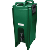 Cambro UC500519 Green Ultra Camtainer 5.25 Gallon Insulated Beverage Dispenser