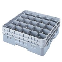 Cambro 25S534151 Camrack 6 1/8 inch High Soft Gray 25 Compartment Glass Rack