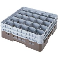 Cambro 25S534167 Camrack 6 1/8 inch High Brown 25 Compartment Glass Rack