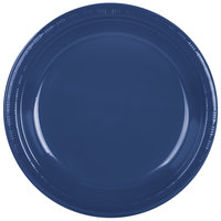 Creative Converting 28113731 10 inch Navy Blue Plastic Plate - 240/Case