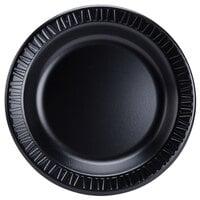 Dart Solo 10PBQR Quiet Classic 10 1/4 inch Black Laminated Round Foam Plate - 125 / Case