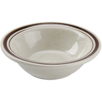 4 oz. Brown Speckle Narrow Rim China Fruit / Monkey Dish   - 36/Case