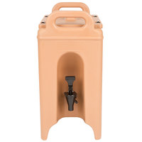 Cambro 250LCD157 Camtainer 2.5 Gallon Coffee Beige  Insulated Beverage Dispenser
