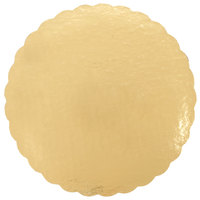 12 inch Gold Laminated Corrugated Cake Circle - 25/Pack