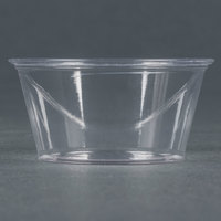 Fabri-Kal Greenware GPC200 2 oz. Customizable Compostable Clear Plastic Souffle / Portion Cup - 200 / Pack