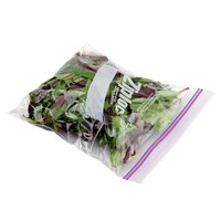 Diversey Ziploc 94601 7 inch x 7 3/4 inch 1 Qt. Storage Bags with Double Zipper and Write-On Label - 500/Case