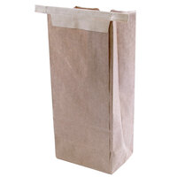 1 lb. Brown Customizable Paper Coffee Bag Tin Tie Recloseable 100 / Pack