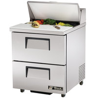 True TSSU-27-8D-2 27 inch Two Drawer Sandwich / Salad Prep Refrigerator