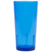 Cambro D16608 Del Mar 16 oz. Sapphire Blue Customizable Plastic Tumbler   - 36/Case