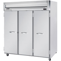 Beverage Air HF3-5S 78 inch Horizon Series Three Section Solid Door Reach-In Freezer - 74 cu. ft.