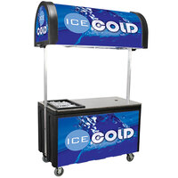 Vending Cart with Canopy - 59 1/4 inch x 30 inch x 98 inch
