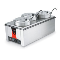 Vollrath Heat 'N Serve 72788 4/3 Size Countertop Rethermalizer / Warmer Package - 120V, 1600W