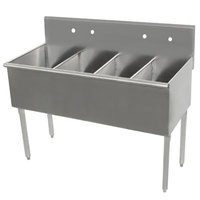 Advance Tabco 6-4-60 Four Compartment Stainless Steel Commercial Sink - 60 inch