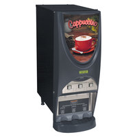 Bunn iMIX-3S+ BLK Powdered Cappuccino Dispenser with 3 Hoppers - 120V (Bunn 38600.0001)
