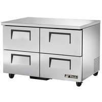 True TUC-48D-4 48 inch Deep Undercounter Refrigerator with Four Drawers
