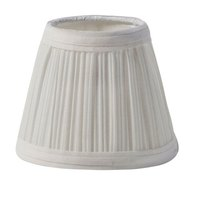 Sterno Products 85432 5 1/8 inch x 4 1/2 inch Small Cream Cloth Lamp Shade