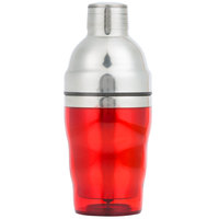 American Metalcraft RAS10 10 oz. Red 3-Piece Cocktail Shaker Set