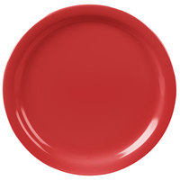Carlisle KL20005 Kingline 8 7/8 inch Red Dinner Plate - 48 / Case