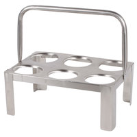 Six Hole Stainless Steel Flatware Cylinder Carrier