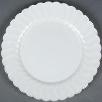 Fineline Flairware 210-WH 10 1/4 inch White Plastic Plate - 144 / Case