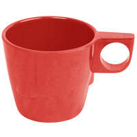 7 oz. Pure Red Bulbous Melamine Mug - 12/Pack