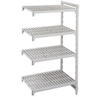 Cambro Camshelving Premium CPA184264V4480 Vented Add On Unit 18 inch x 42 inch x 64 inch - 4 Shelf