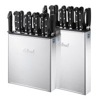 8 Slot Edlund KR700 Enclosed Stainless Steel Wall Mount Knife Rack - Closed Back