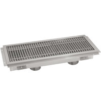 Advance Tabco FFTG-12120 12 inch x 120 inch Floor Trough with Fiberglass Grating