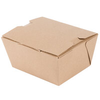 Microwavable Paper #1 Take Out Box 4 3/8 inch x 3 1/2 inch x 2 1/2 inch - 450/Case