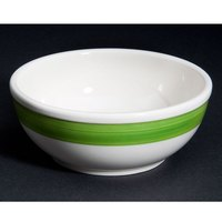 CAC R-18-GRN Rainbow Nappie Bowl 15 oz. - Green - 36/Case