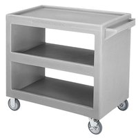 Cambro BC235 Gray Three Shelf Service Cart - 37 1/4 inch x 21 1/2 inch x 34 5/4 inch