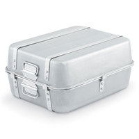 Vollrath 68360 Wear-Ever 23.25 Qt. Aluminum Double Roaster Set with Straps - 20 1/8 inch x 16 1/8 inch x 9 3/4 inch