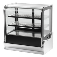 Vollrath 40863 48 inch Cubed Glass Refrigerated Countertop Display Cabinet
