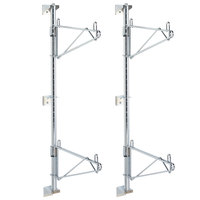 Metro SW23C Super Erecta Chrome Double Level Post-Type Wall Mount End Unit for 14 inch Deep Shelf