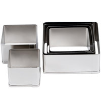 Ateco 5253 6-Piece Stainless Steel Plain Square Cutter Set (August Thomsen)