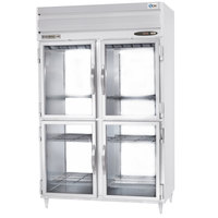 Beverage Air PRD2-1BHG 2 Section Glass Half Door Pass-Through Refrigerator - 50 cu. ft., Stainless Steel