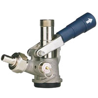 Micro Matic 7485BB-B D System Beer Keg Coupler with Blue Lever Handle