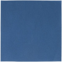 Hoffmaster 125042 Flat Pack 16 inch x 16 inch Navy Blue Linen-Like Napkin 500/Case